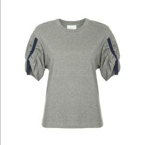 3.1 Philip Lim Short Gathered Sleeve Shirt